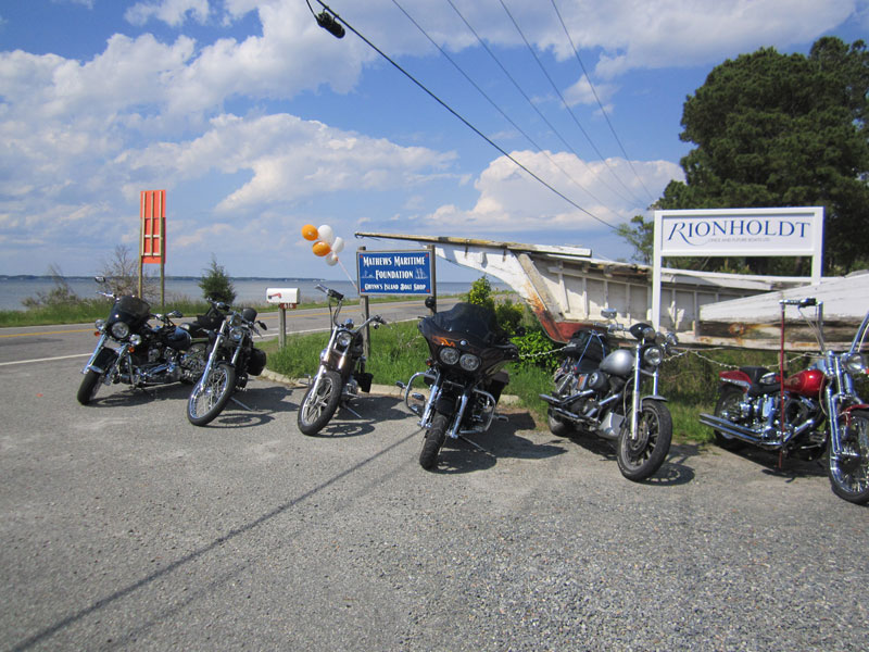 bikes parked at sign